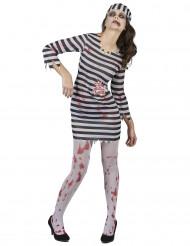 Kostume zombiefange dame