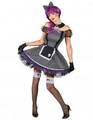Kostume til goth-dukke dame