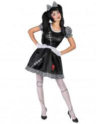 Kostume til dukke med knust hjerte dame
