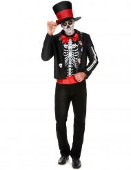 Skeletkostume med motiv fra Dia de los muertos herre