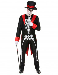 Elegant skeletkostume herre