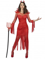 Flammedæmon-kostume dame