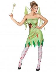 Kostume grøn blodig fe dame