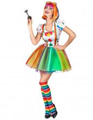 Kostume malerklovn multifarvet dame