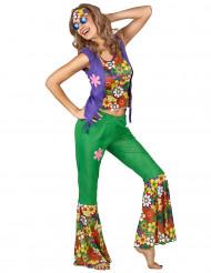 Flowerpower hippie kostume dame