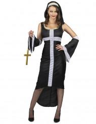 Kostume sexet nonne med hvidt kors dame