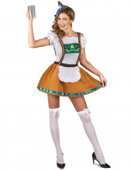 Brunt bayersk inspireret kostume dame
