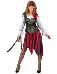 Sigøjner inspireret piratkostume dame