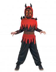 Kostume djævel af ild til drenge