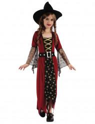 Kostume heks bordeaux og guld til piger