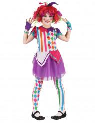 Kostume Harlekin farverig til piger
