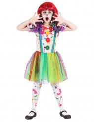 Kostume klovn maleri mangefarvet til piger