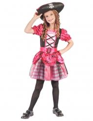 Kostume sørøverkaptajn pirat lyserød til piger