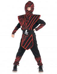 Kostume ninja rødgul til drenge