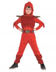 Kostume ninja kongerød til drenge
