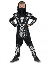 Kostume Ninja dødningehoved til drenge