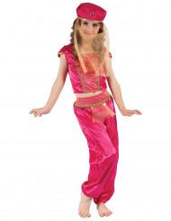 Kostume danserinde orientalsk pink og guld til piger