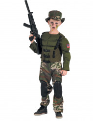 Kostume soldat amerikansk muskler til drenge
