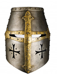 Maske i pap ridderhjelm