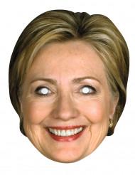 Maske i karton Hillary Clinton