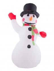 Dekoration oppustelig julemand med lys 120 cm