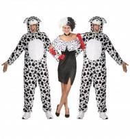 Gruppekostume Cruella og hendes dalmatiner