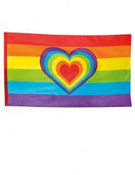 Regnbue flag 90 x 150 cm