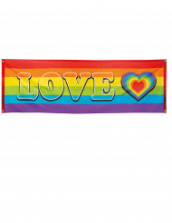 Love Regnbue Banner 74 x 220 cm