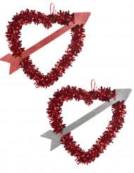 Hjerte med pil til Valentines Day 27x33 cm