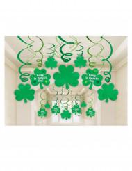 Kit med 30 spiraldekorationer til St. Patrick