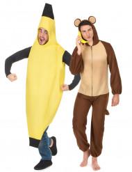 Parkostume banan og abe