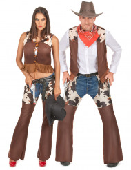 Parkostume cowboy og cowgirl