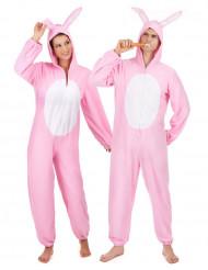 Parkostume lyserøde kaniner