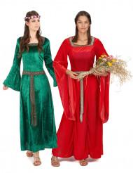 Parkostume middelalder til kvinder