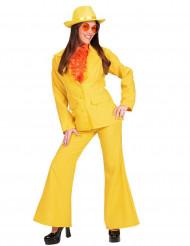 Gult kostume dame