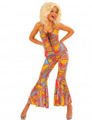 Kostume heldragt hippie flerfarvet til kvinder