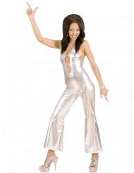 Kostume heldragt disco sølv sexet til kvinder