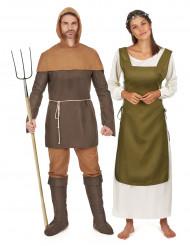 Parkostume middelalder bønder