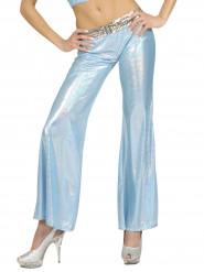 Bukser disko holografisk blå til kvinder