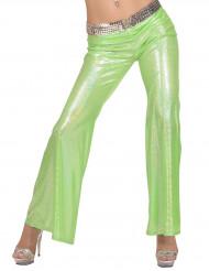 Bukser disko holografisk grøn til kvinder