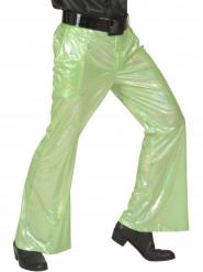 Holografiske disko-bukser grønne