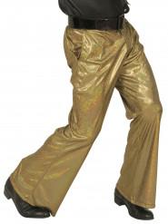 Guldfarvede holografiske disko-bukser herre