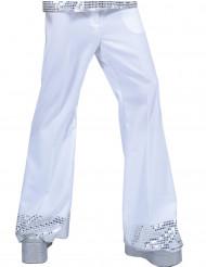 Bukser disco med hvide pailletter på bunden til mænd