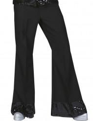 Bukser disco hvide med pailletter på bunden til mænd