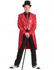 Svalehale jakke rød glimmer til mænd