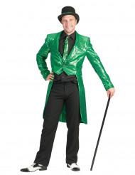 Svalehale jakke i grøn glimmer til mænd