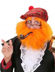 Baret med paryk og skæg skotsk til voksne