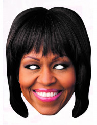 Kartonmaske Michelle Obama