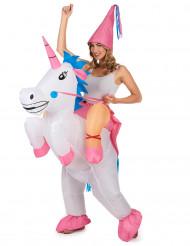 Kostume enhjørning oppustelig til voksne