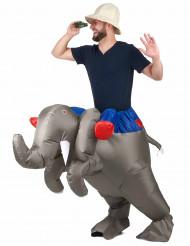Kostume elefant oppustelig til voksne